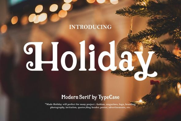 Holiday font - Serif Fonts