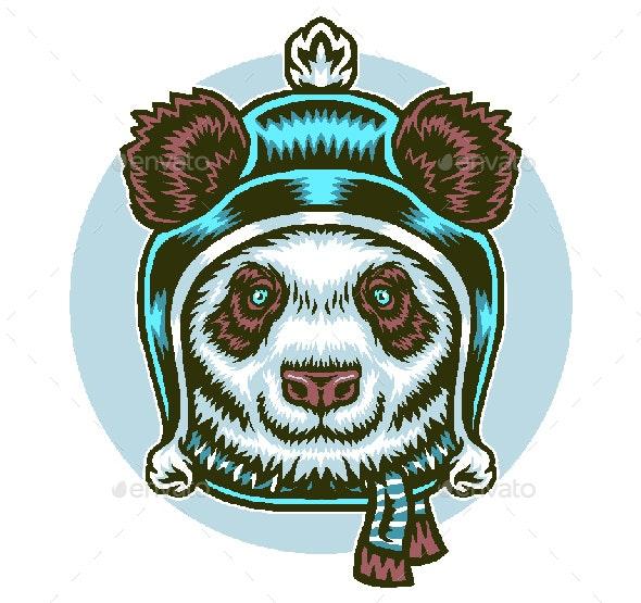 Panda in Winter - Animals Characters