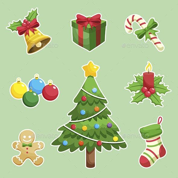 Set of Christmas Decorations - Christmas Seasons/Holidays