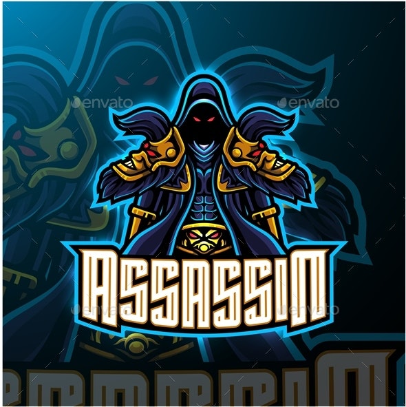 Assassin Esport Mascot - People Characters