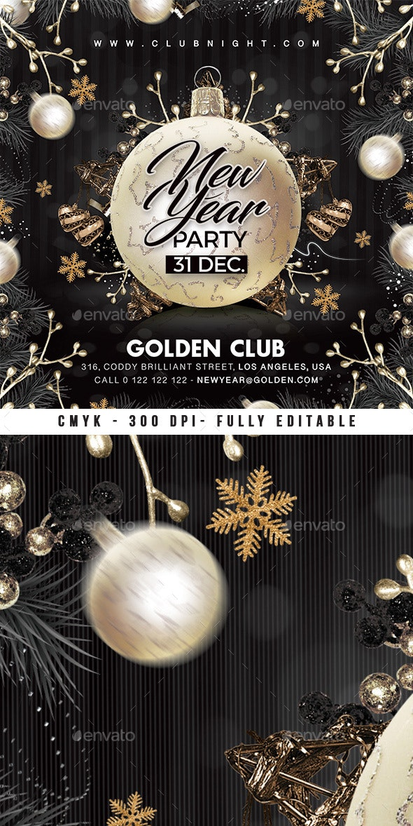 Nye Party New Year Flyer - Events Flyers