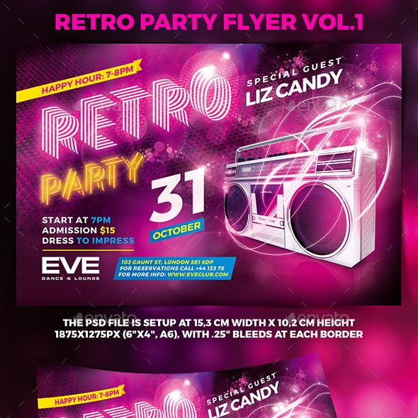 Retro Party Flyer vol.1