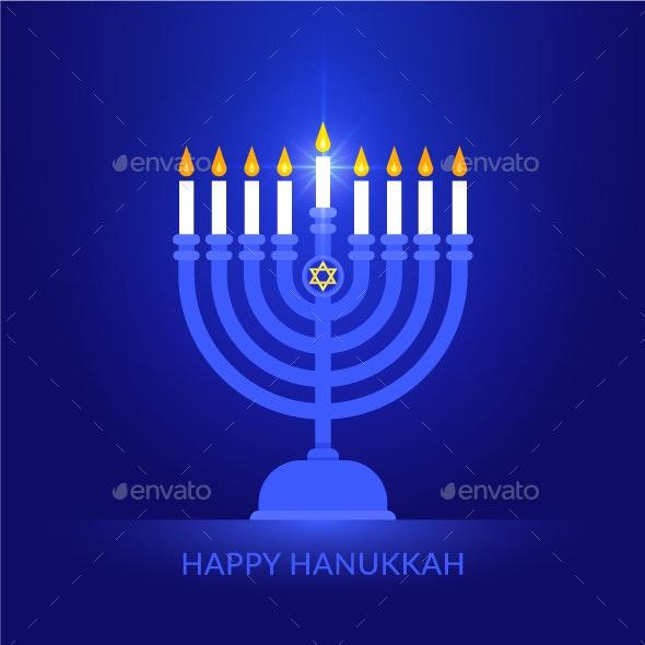 Happy Hanukkah Vector Background - Religion Conceptual