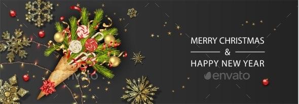 Festive Christmas Background - Christmas Seasons/Holidays