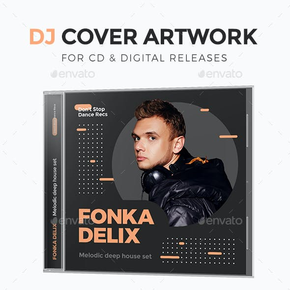 Modern DJ Mix / Album CD Cover Artwork Template