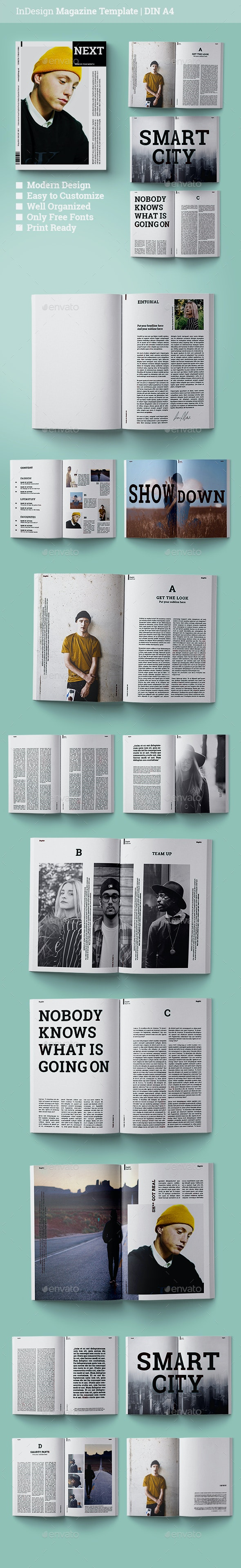 Magazine Template | Next - Magazines Print Templates