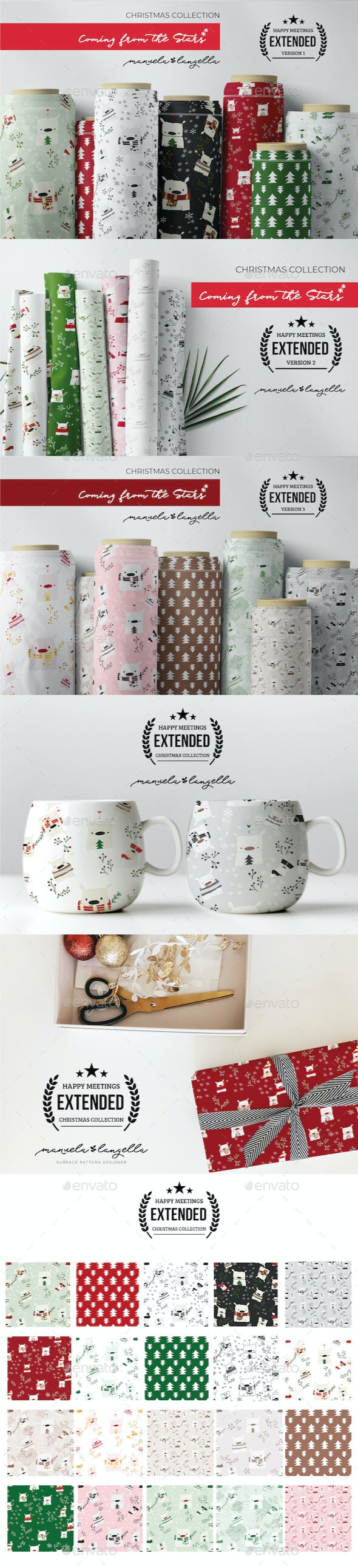 Christmas Collection Happy Meetings - Patterns Decorative
