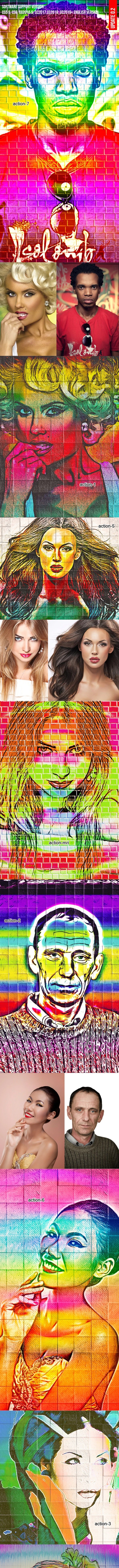 Graffiti Art Photo Action - Photo Effects Actions