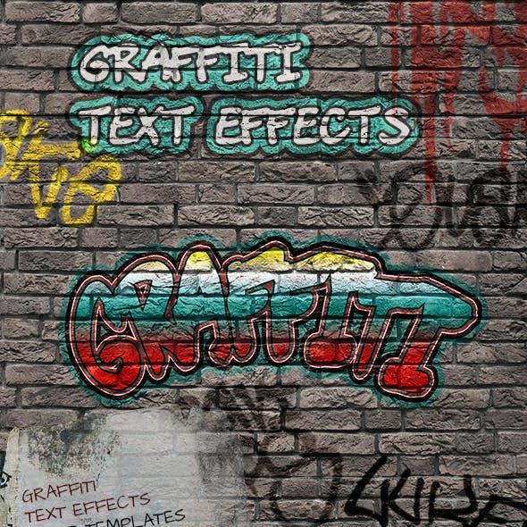 8 Graffiti Text Effects - 8 PSD Templates Vol.1