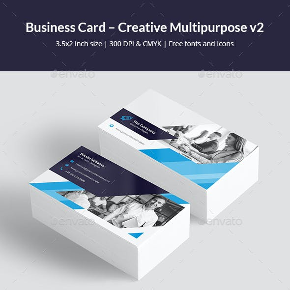 Business Card – Creative Multipurpose v2