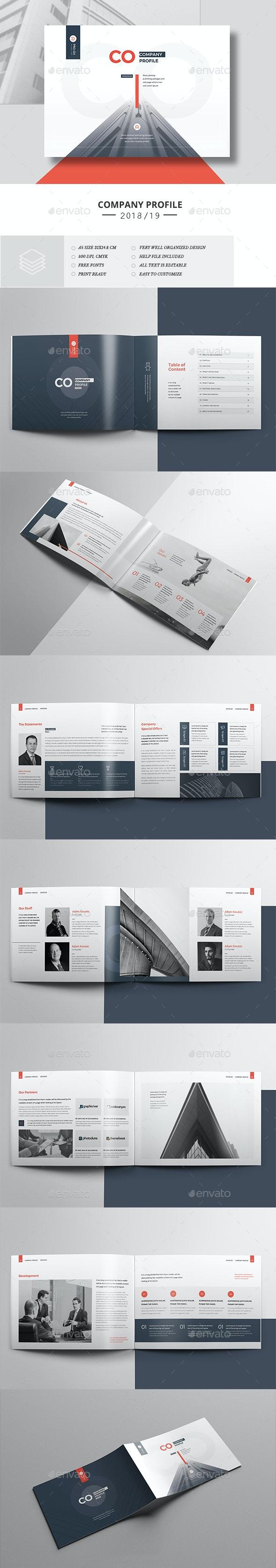 Company Profile 16 Pages Landscape - Corporate Brochures
