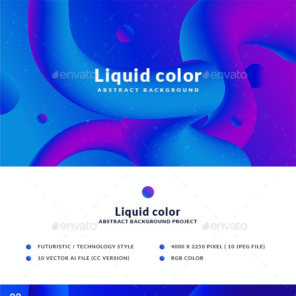 Liquid Color Abstract Background