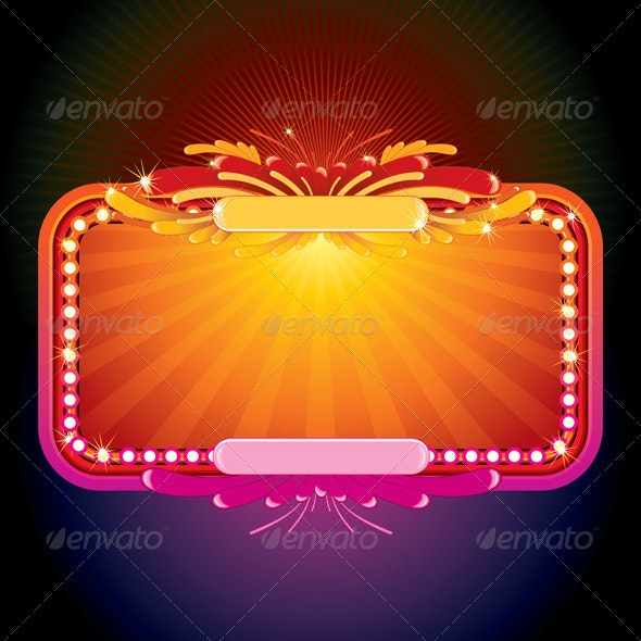 Neon Glowing Sign - Backgrounds Decorative