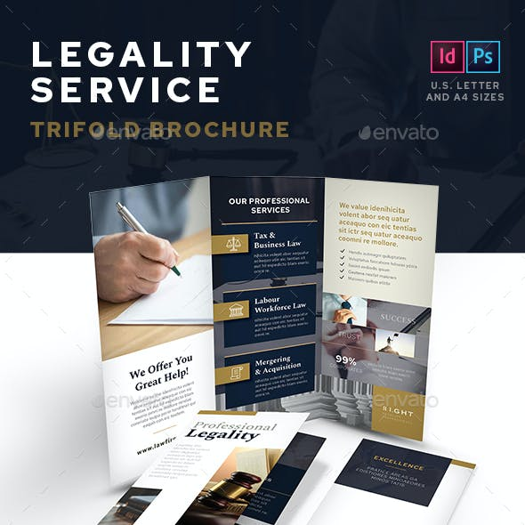 Legality Service Trifold Brochure