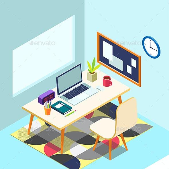 Isometric Work Desk