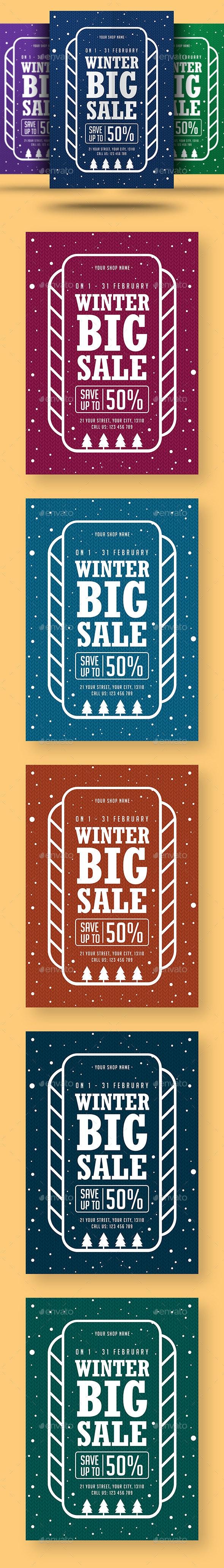 Winter Big Sale Flyer - Events Flyers