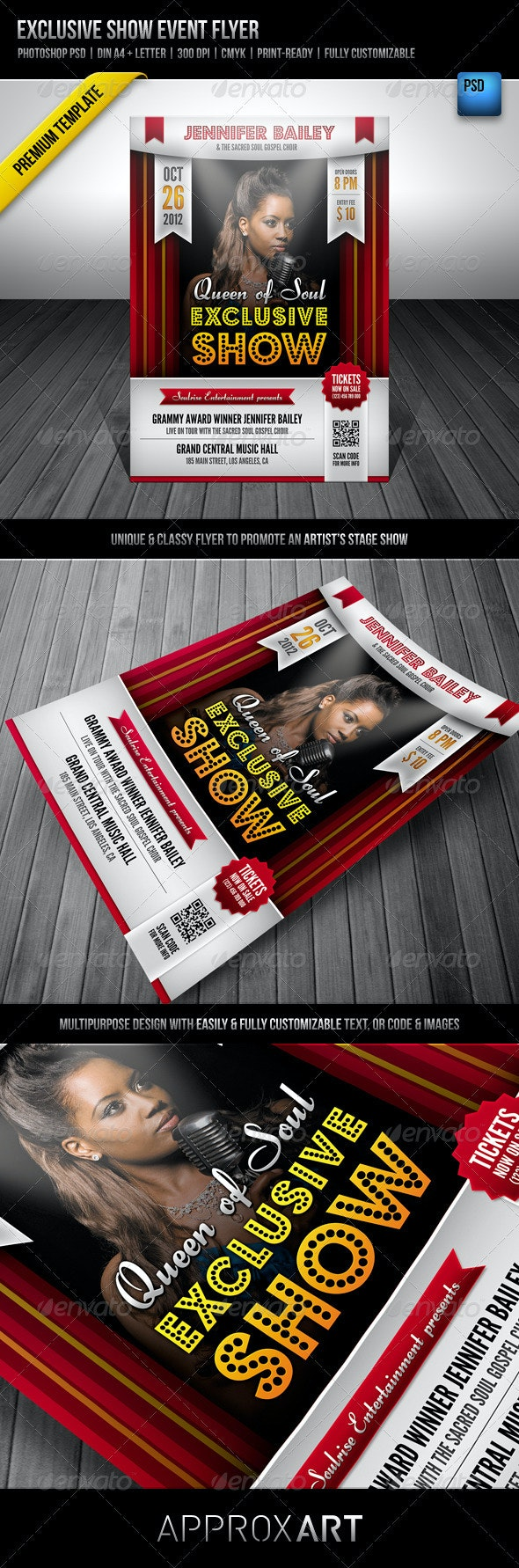 Exclusive Show Event Flyer - Miscellaneous Events