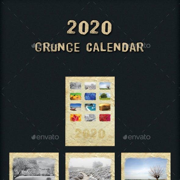 2020 Grunge Calendar
