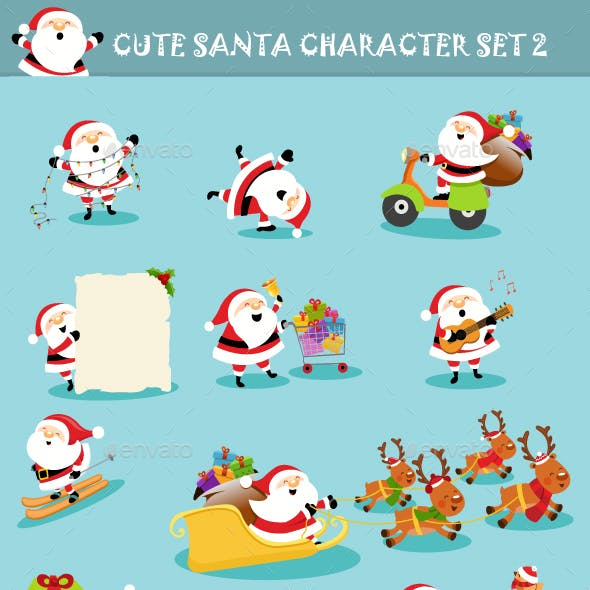 Collection of Santa Characters Vol2