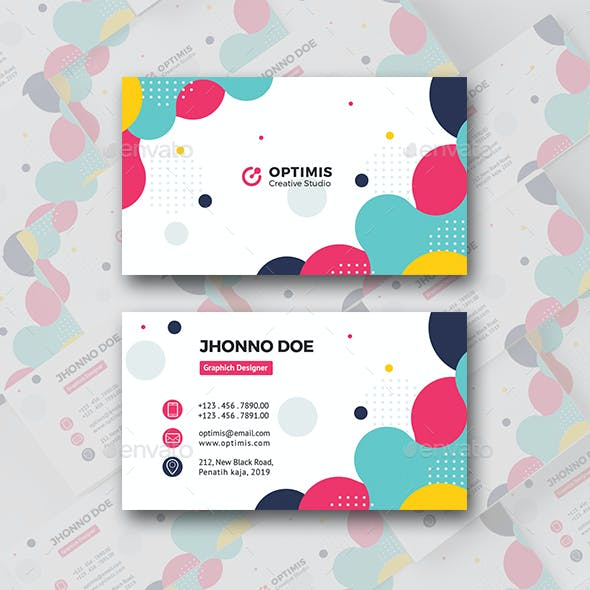Colorful One Business Card