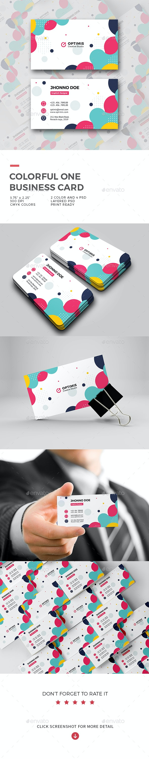 Colorful One Business Card - Creative Business Cards