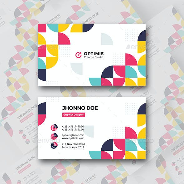 Colorful Two Business Card