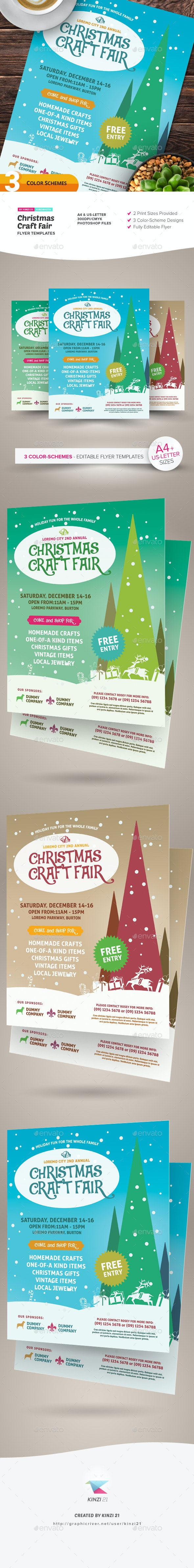 Christmas Craft Fair Flyer Templates By Kinzishots Graphicriver