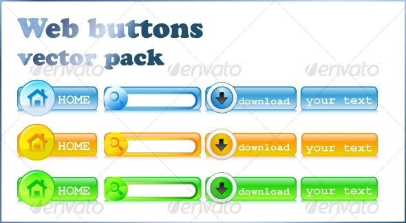 Web buttons - Web Elements