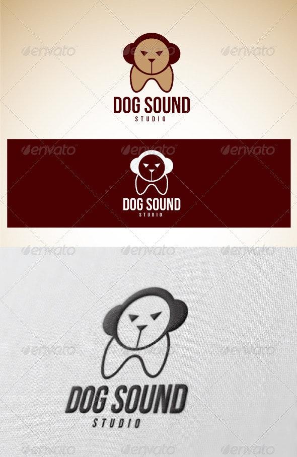Logo Dog Sound Studio - Animals Logo Templates