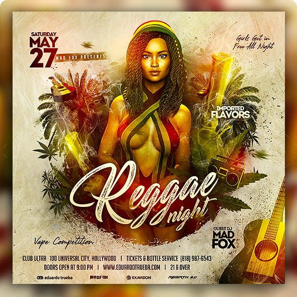 Reggae Night Party Flyer