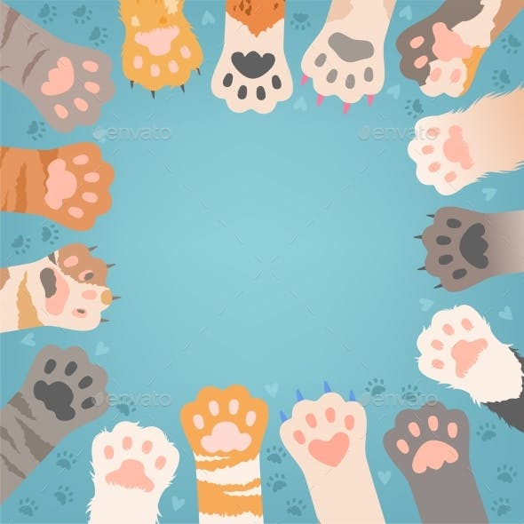 Cats Paw Background