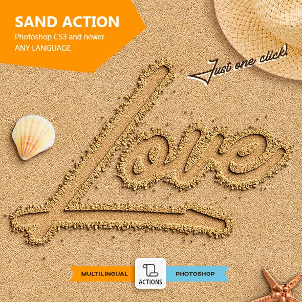 Sand Text - Photoshop Action