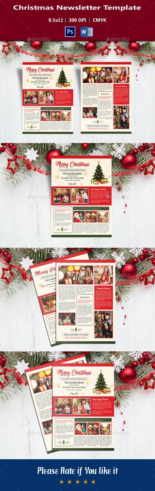 Christmas Newsletter V01 - Christmas Greeting Cards