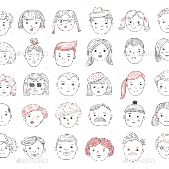 Sketch People Avatars