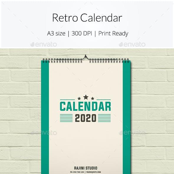 Retro Calendar 2020