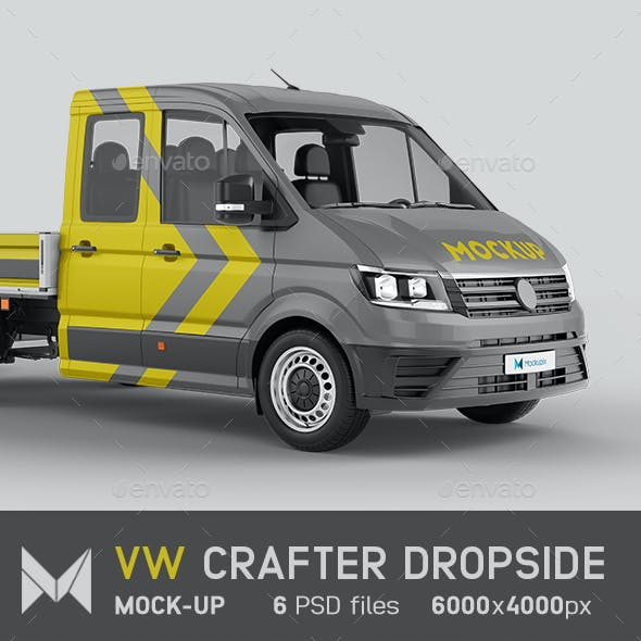 VW Crafter Dropside Van Mockup