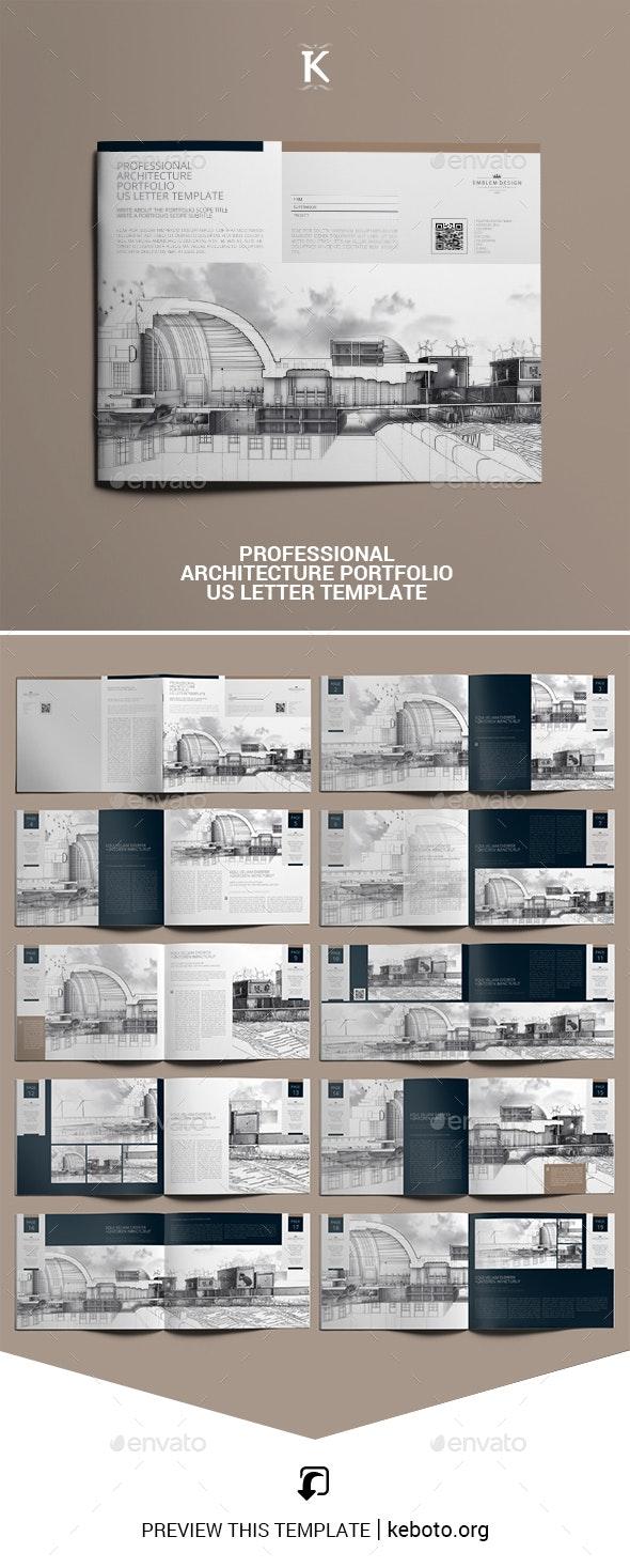 Professional Architecture Portfolio US Letter Template - Portfolio Brochures