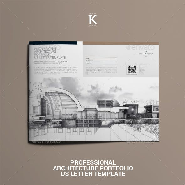 Professional Architecture Portfolio US Letter Template