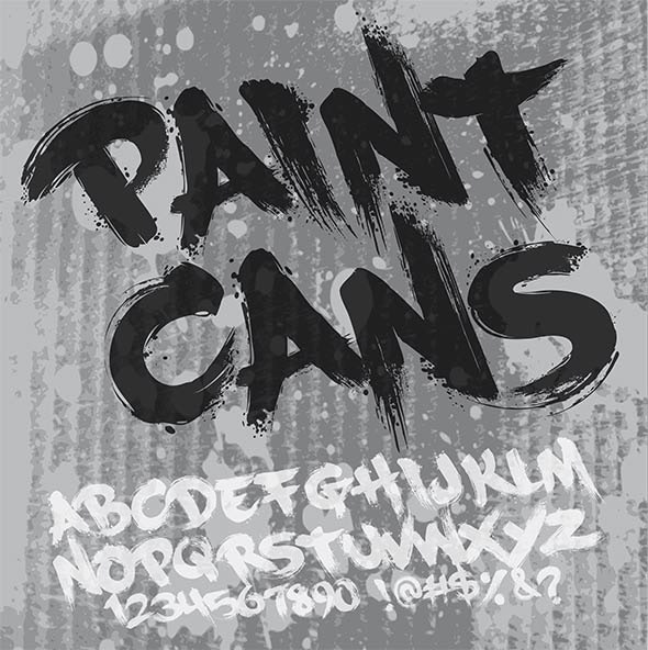 Paint Cans - Graffiti Fonts