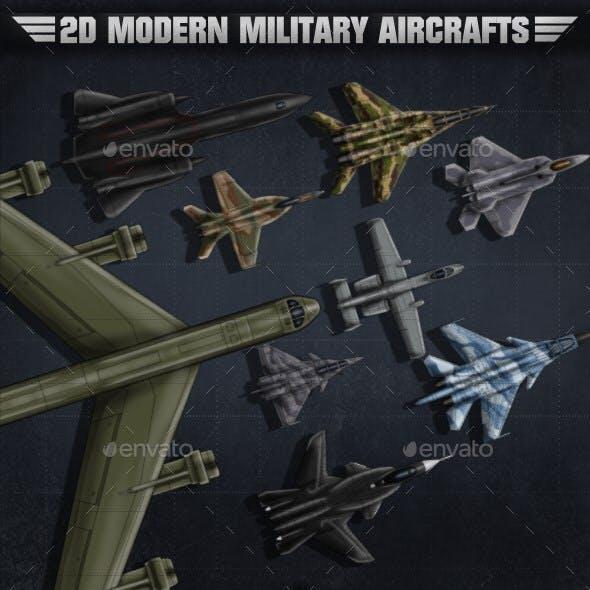 2D Modern Military Aircrafts