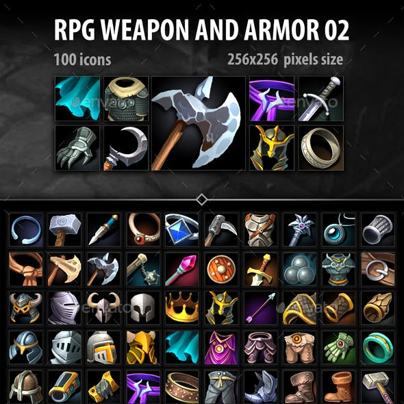 RPG Weapon and Armor 02