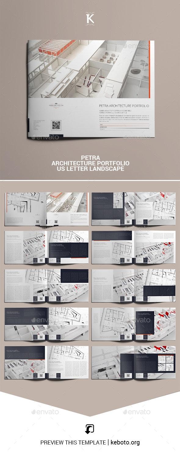 Petra Architecture Portfolio US Letter Landscape - Portfolio Brochures