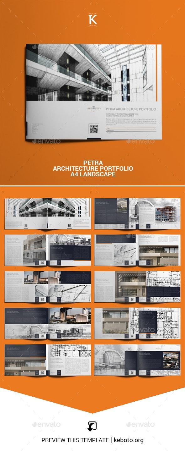 Petra Architecture Portfolio A4 Landscape - Portfolio Brochures