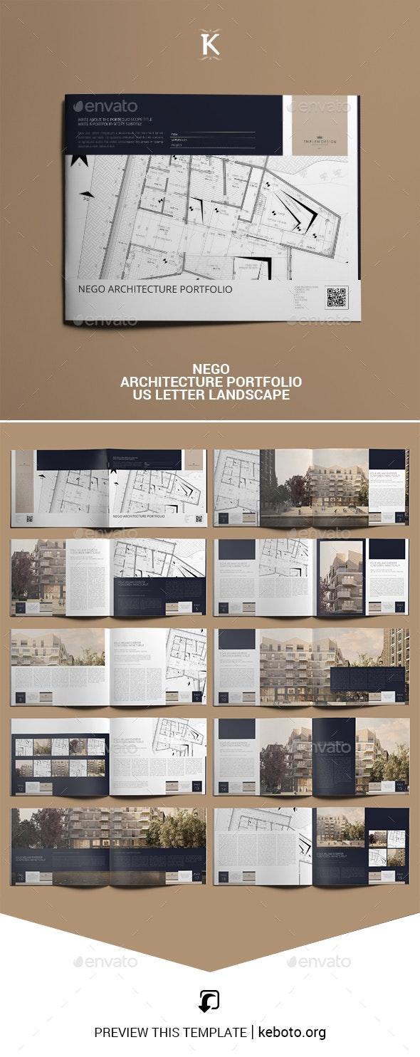 Nego Architecture Portfolio US Letter Landscape - Portfolio Brochures