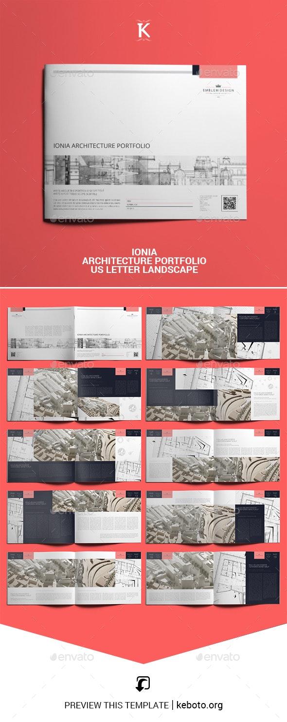 Ionia Architecture Portfolio US Letter Landscape - Portfolio Brochures