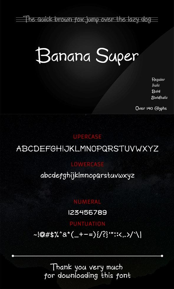 Banana Super - Script Fonts