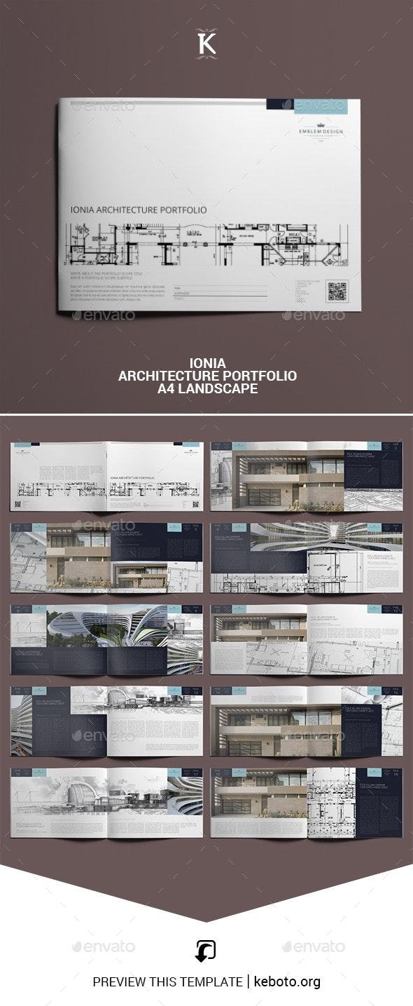 Ionia Architecture Portfolio A4 Landscape - Portfolio Brochures