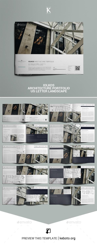 Iolkos Architecture Portfolio US Letter Landscape - Portfolio Brochures
