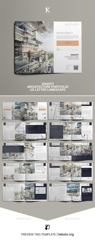 Iokasti Architecture Portfolio US Letter Landscape - Portfolio Brochures