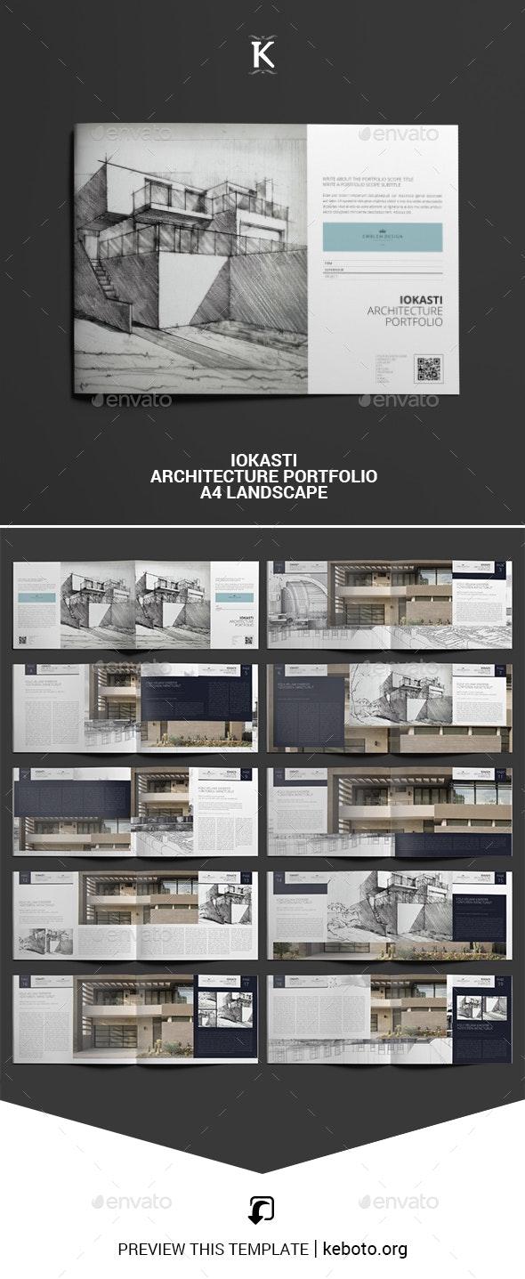 Iokasti Architecture Portfolio A4 Landscape - Portfolio Brochures